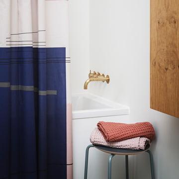 Organic Badetücher in Rosa und Rost von ferm Living