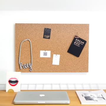 Hochwertige Kork-Pinnwand für den Schreibtisch