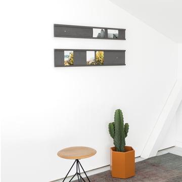 Schwarze Bilderleisten für die Wand