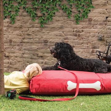 Doggielounge Large in Rot von Fatboy