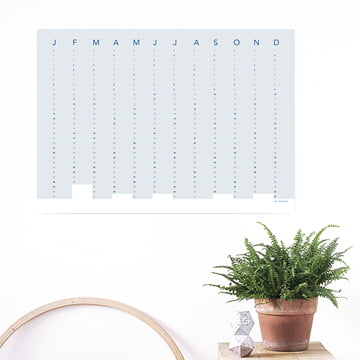 snug.column Wandkalender 2018 von Snug.Studio in Soft Blue
