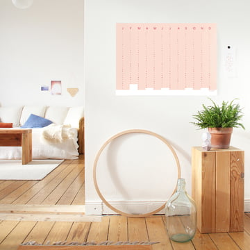 snug.column Wandkalender 2018 von Snug.Studio in Soft Pink