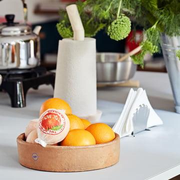 Hay - Terrakotta Schale, Ø 27 cm, Porter Küchenrollenhalter, natur und Italienischer Serviettenhalter