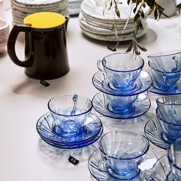 Sowden Kaffeebereiter und Duralex Kaffeetasse mit Untersetzer von Hay