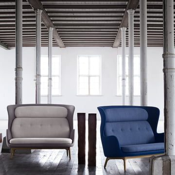 Das Fritz Hansen - Ro Sofa in zwei Farbvarianten