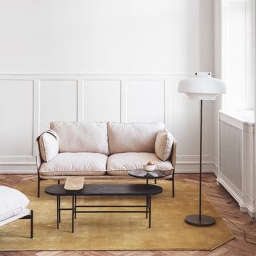 Copenhagen SC14 Stehleuchte, Cloud Sofa und Couchtisch Palette JH7 von &Tradition