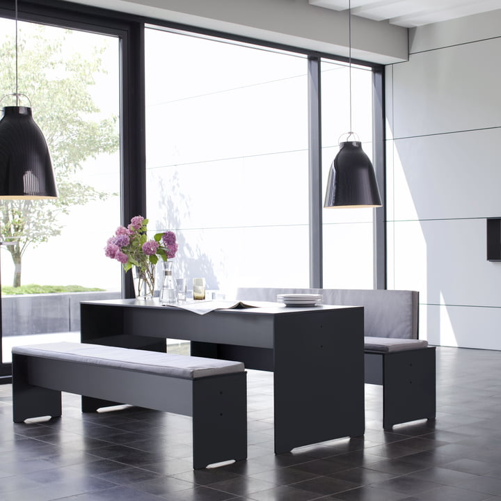 Conmoto - Riva Indoor- und Outdoor Möbel - HPL grau