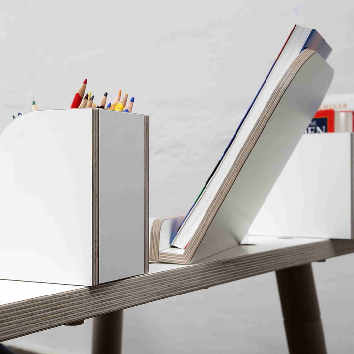 Growing Table - Bücherboard, Buchaufsteller, Stiftbox