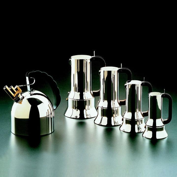 Espressomaschine 9090, Grueppenbild, verschiedene Grössen