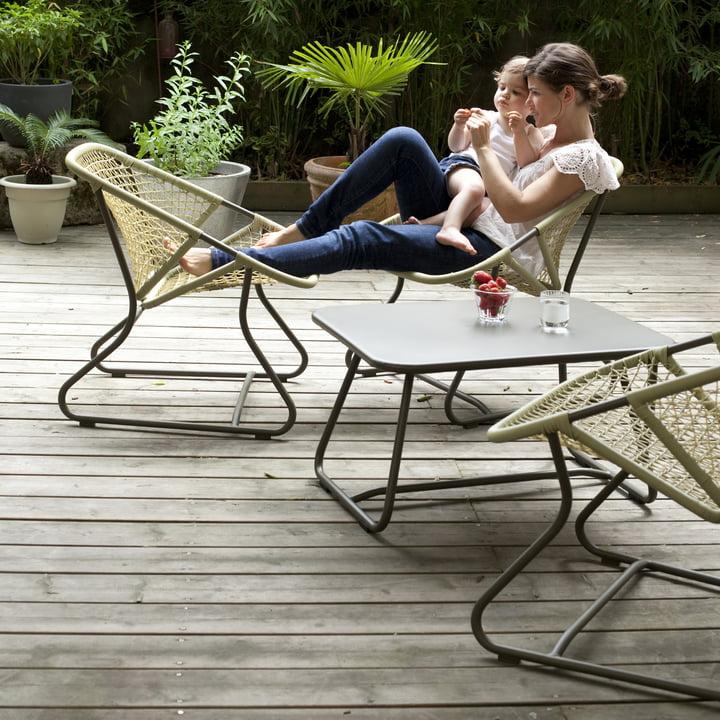 Sixties Sessel und Tisch von Fermob