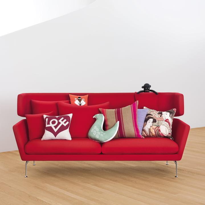 Suita Sofa 3-Sitzer mit Graphic Print Pillow - Love von Vitra