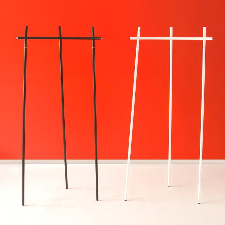 Radius Design - Garderobe Radius 1, weiss und schwarz