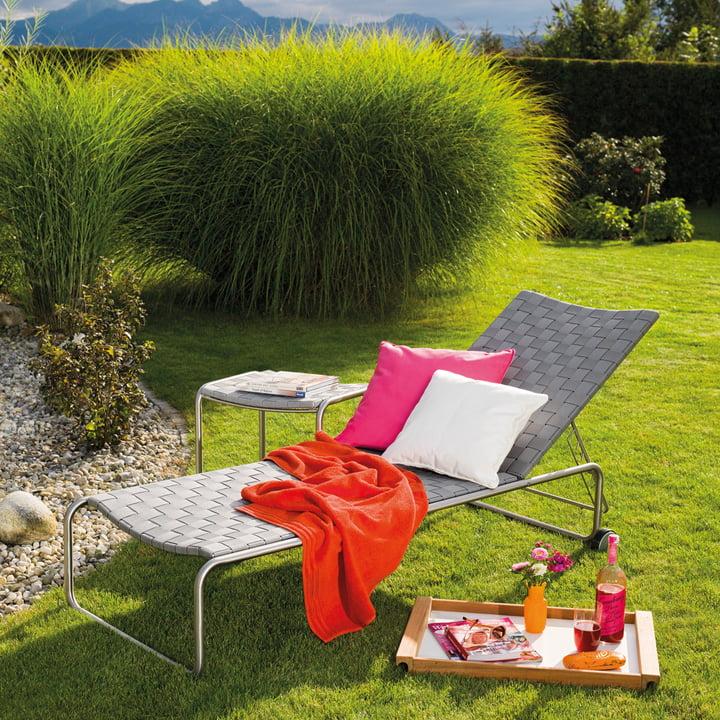 Weishäupl - Prato Belt Gartenliege, silbergrau
