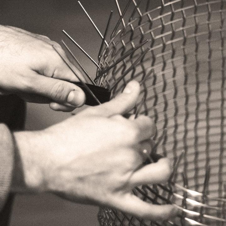 Handgeflochtene Drahtkörbe von Korbo