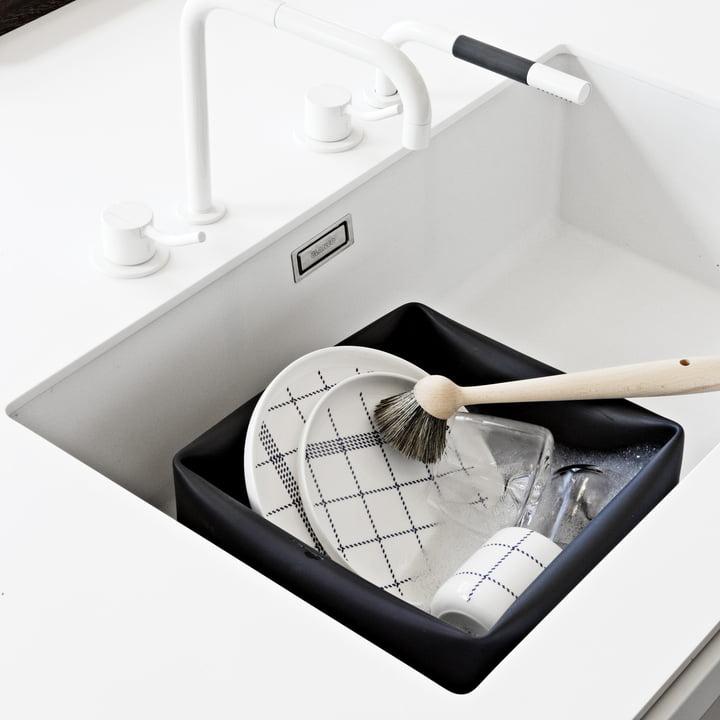 Normann Copenhagen - Washing up bowl, schwarz - Ambiente