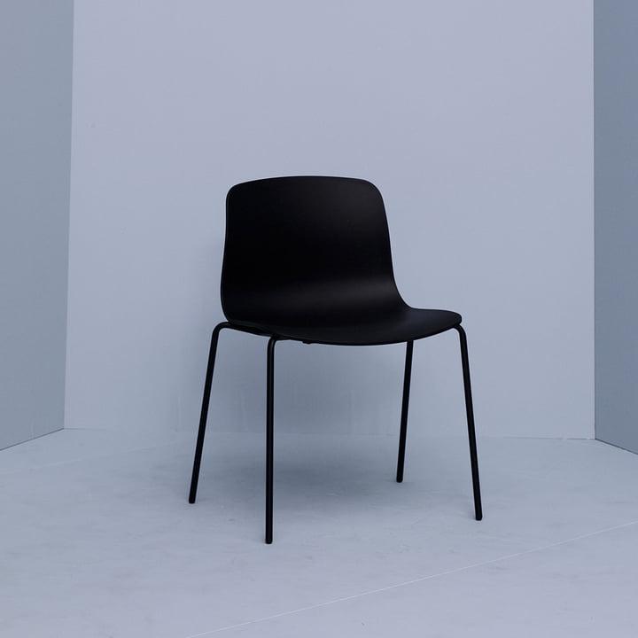 Hay - About A Chair AAC 16, Aluminium schwarz / schwarz