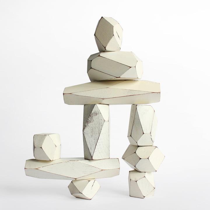 Areaware - Balancing Blocks Holzspielzeug, weiss