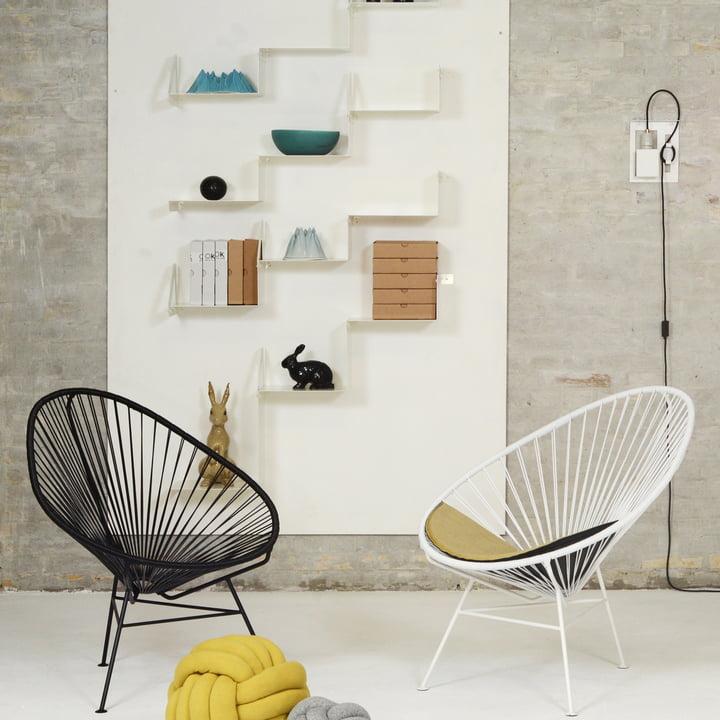 OK Design - The Acapulco Chair, schwarz, weiss