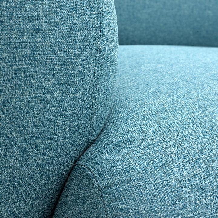 Normann Copenhagen - Swell 3-Sitzer, hellblau - Detail, Lehne