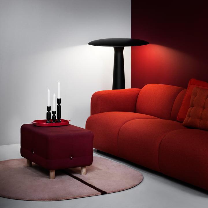 Normann Copenhagen - Swell 3-Sitzer, rot
