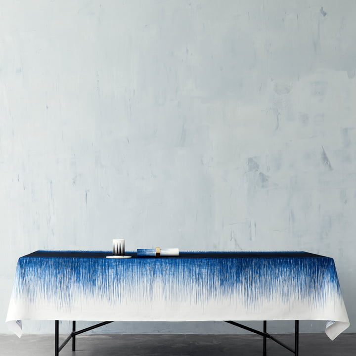 ferm Living - Pen Tischdecke, blau