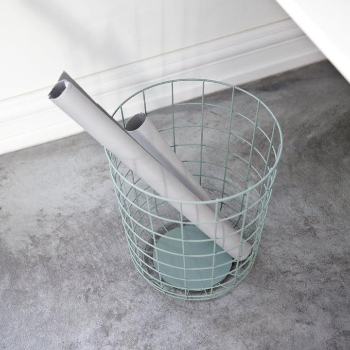 Menu - Wire Bin, Papiereimer, moosgrün
