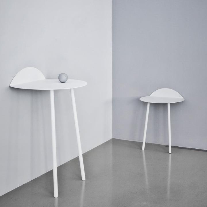 Yeh Wand-Tisch von Menu in Weiss