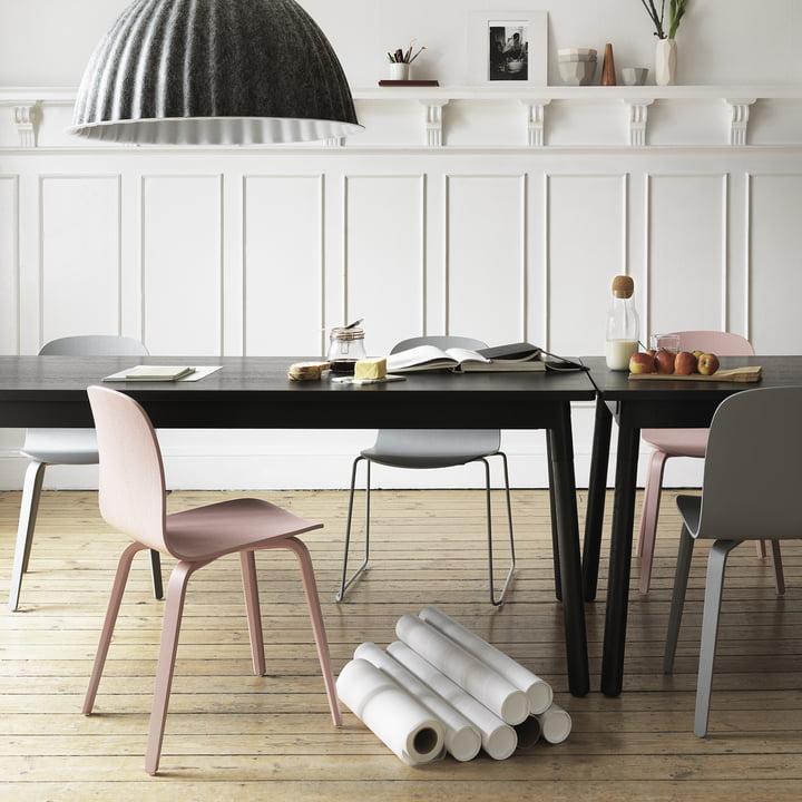 Muuto - Visu Chair, wood, wire - Gruppe