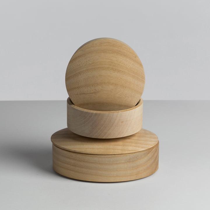 Hay - Lens Box / Deckel, Ahorn - gestapelt