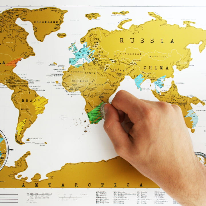 Luckies - Scratch-Map Travel Edition, Anwendung