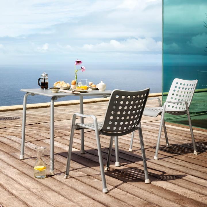 Vitra - Landi Stuhl, Aluminium matteloxiert 75 x 75 cm