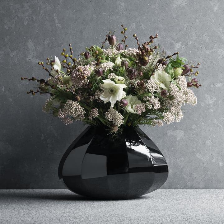 Georg Jensen - Facet Vase medium, schwarz