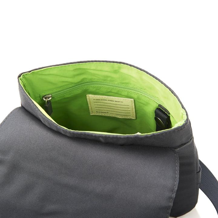 Moleskine - Schultertasche, klein, geöffnet