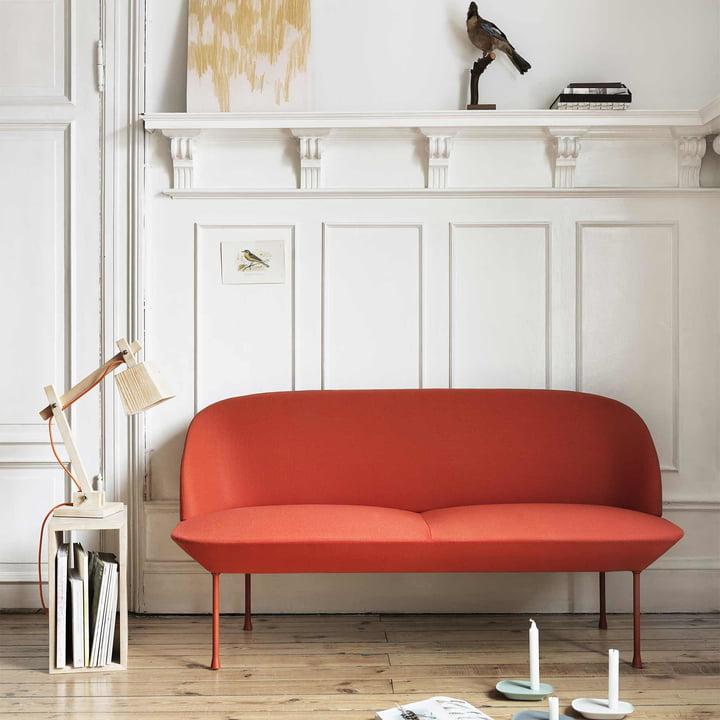 Muuto - Wood Lamp Tischleuchte, Kabel orange