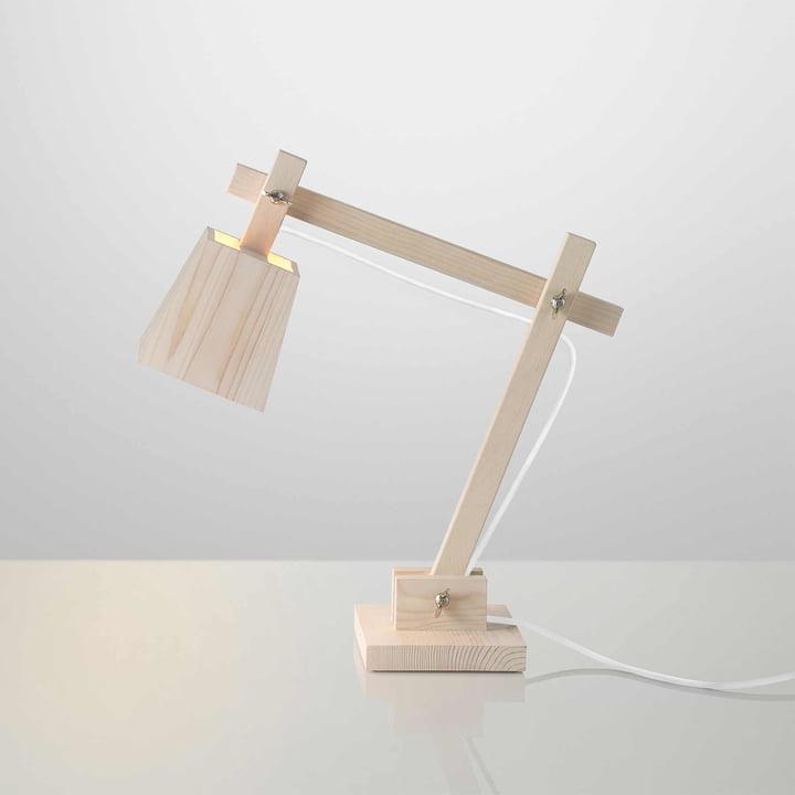 Muuto - Wood Lamp Tischleuchte, Kabel weiss