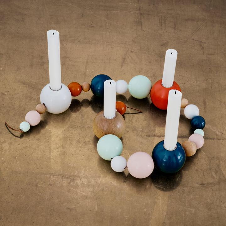 ferm Living - String Kerzenhalter, bunt