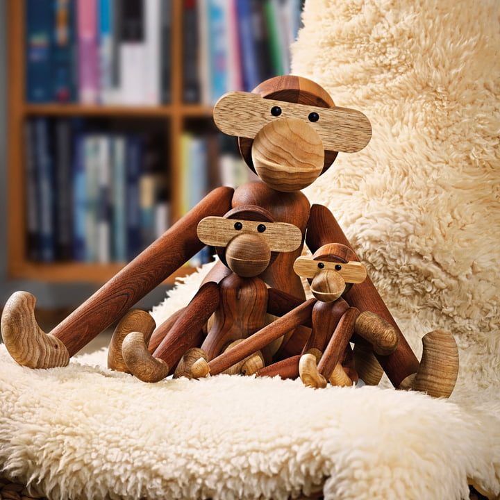 Holz-Affe von Kay Bojesen in verschiedenen Größen