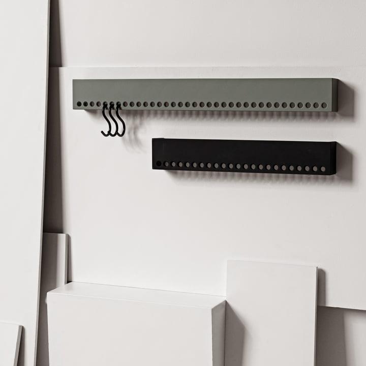 Nomess - So-Hooked Wandgarderobe, grau, schwarz