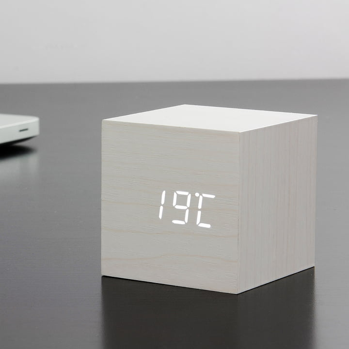 Gingko - Cube, weiss / LED weiss