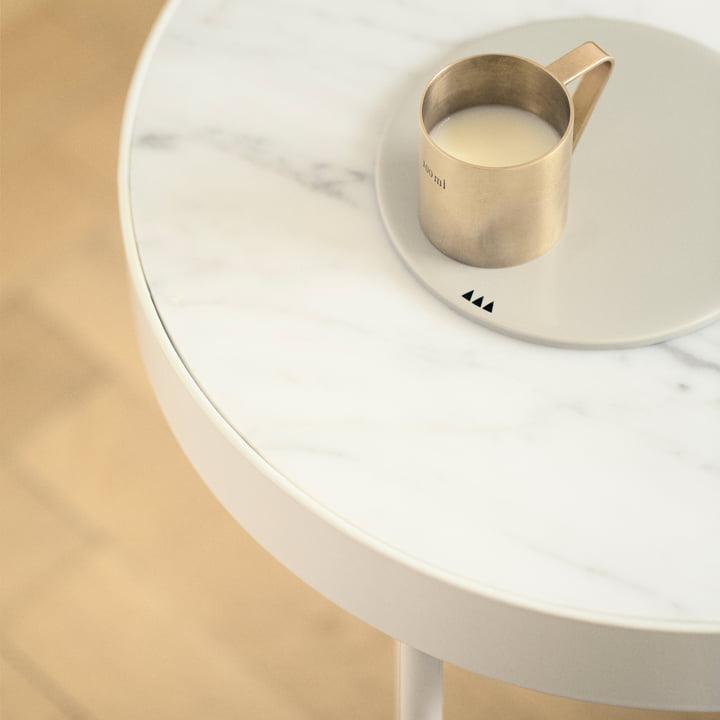 ferm living - Marble Marmor Tisch, weiß