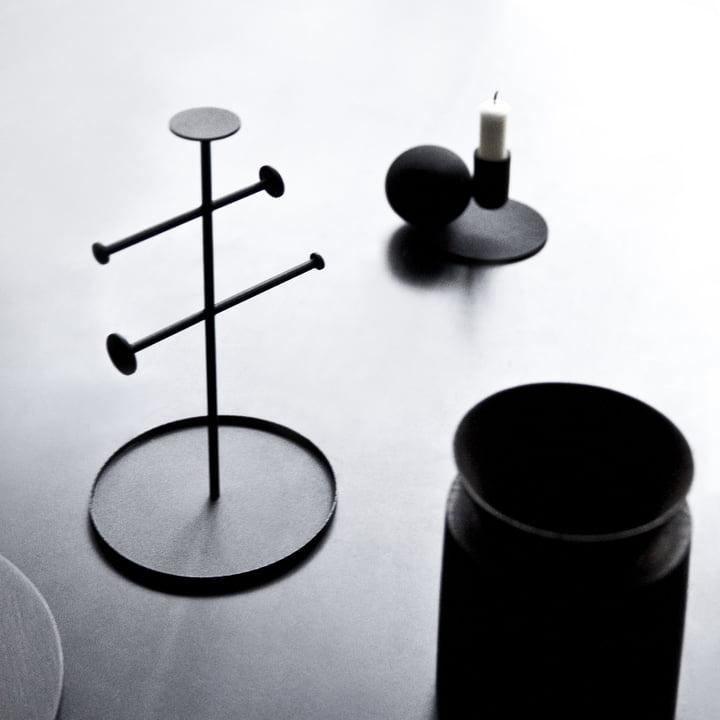 Menu - Optical Kerzenständer, schwarz