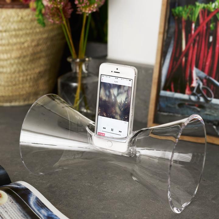 Holmegaard - Urania Handy-Audioverstärker, klar