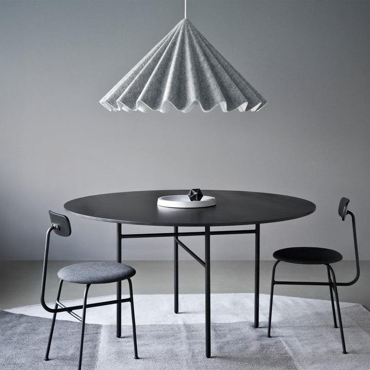 Menu - Snaregade Table, rund, schwarz funiert