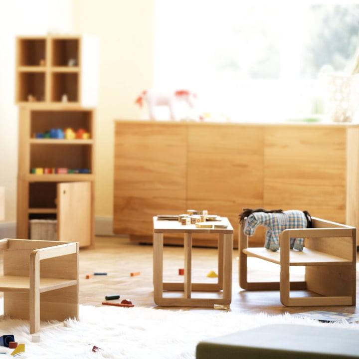 Jan Kurtz - Kindertisch / Kinderbank Tim, Buche natur