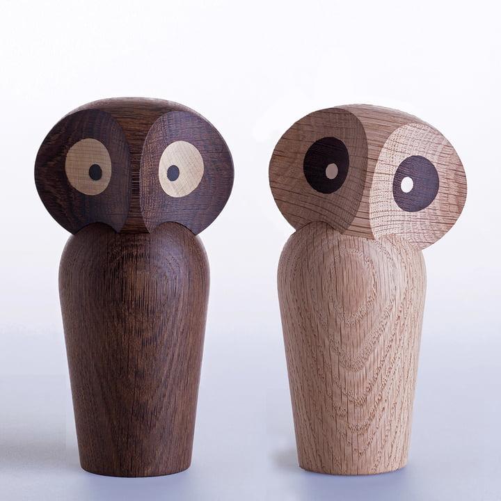 ArchitectMade - Owl Large, Eiche geräuchert, Eiche natur
