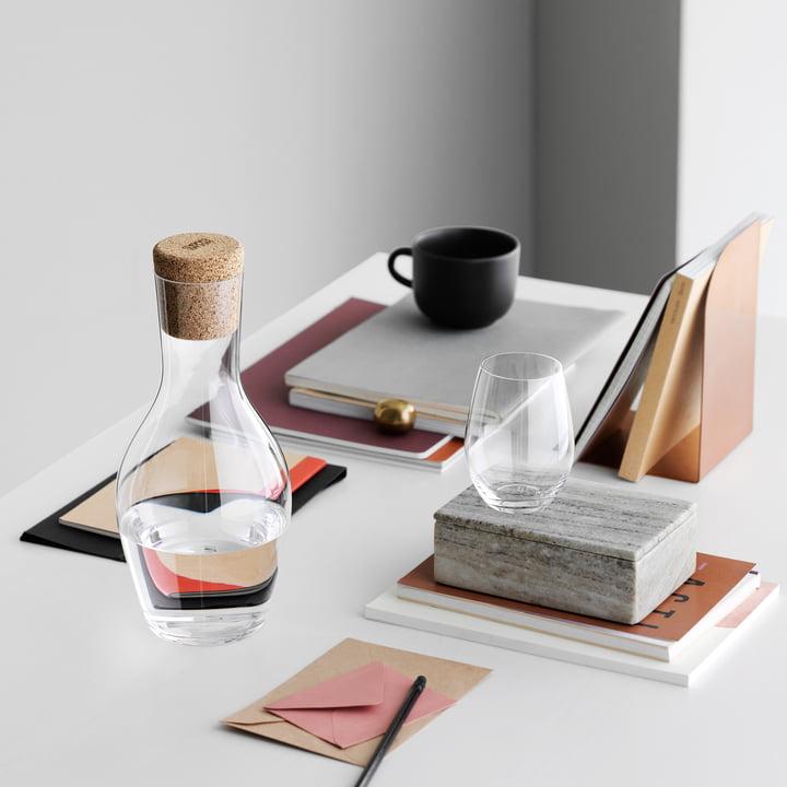 Holmegaard - Cabernet Wasserkaraffe aus Glas mit Korken