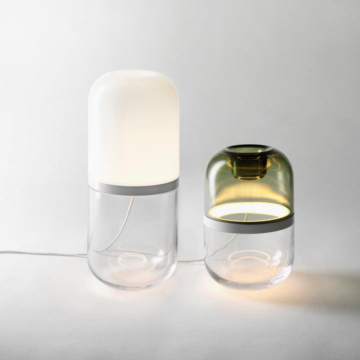 Design House Stockholm - Demi LED Tischleuchte in Weiss und Grün