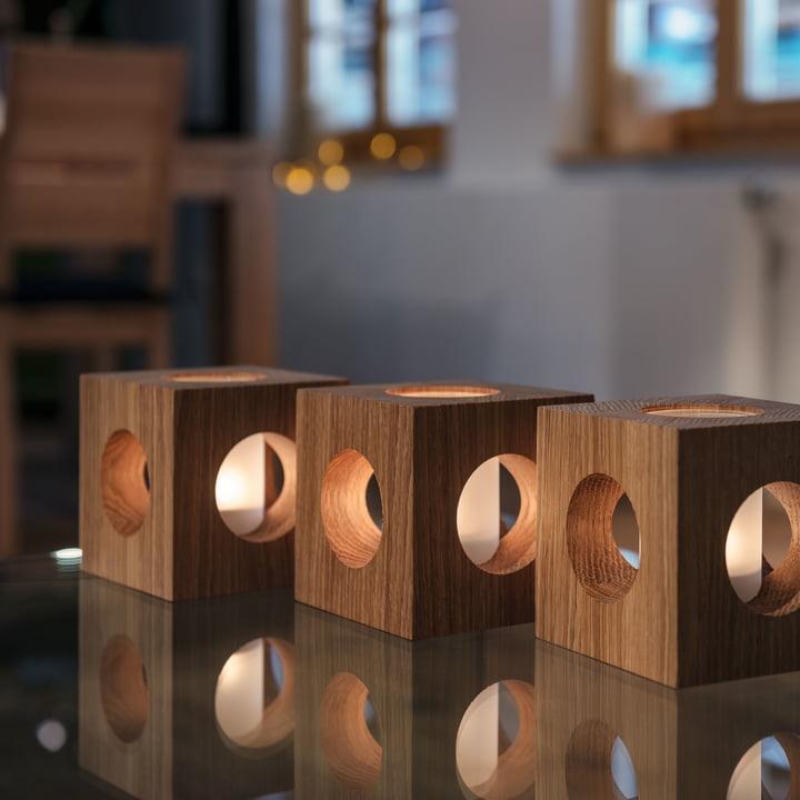 Design im Dorf - Cubo Würfelwindlicht