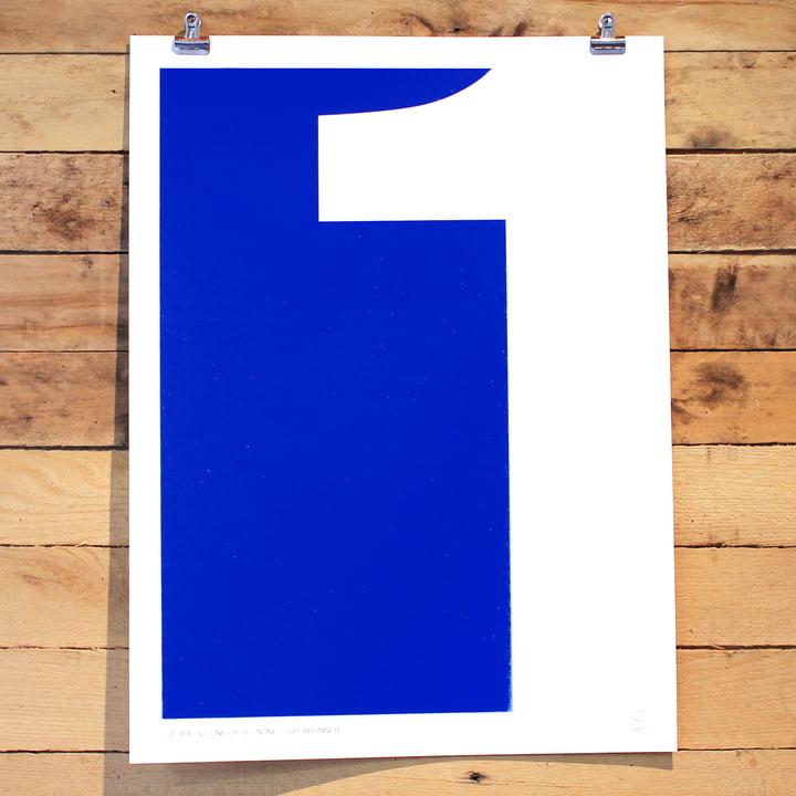 Srcreen Printed Swiss Inspired Number Series One von Holstee
