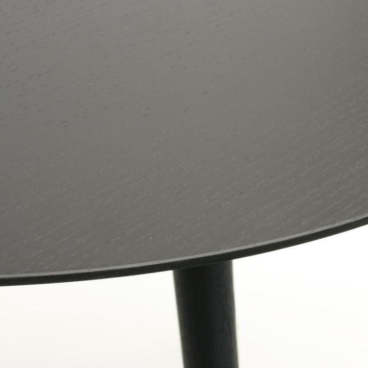 TURN Tisch von Maigrau in Esche schwarz lackiert